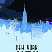 New York City X Ray Poster