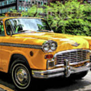New York City Yellow Checker Taxicab Poster
