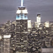 New York Empire State Building Blurred  Poster