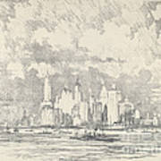 New York From Ellis Island Poster