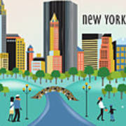 New York Horizontal Skyline - Central Park Poster