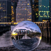 New York In Glass Ball Poster