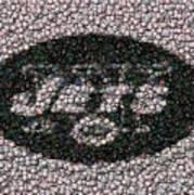 New York Jets Bottle Cap Mosaic Poster