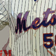 New York Mets Baseball Team And New Typography Poster