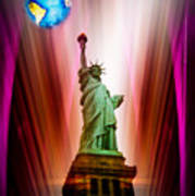 New York Nyc - Statue Of Liberty 2 Poster