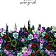 New York Skyline Floral 3 Poster