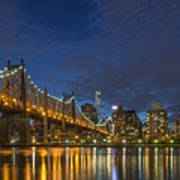 New York Skyline - Queensboro Bridge - 2 Poster