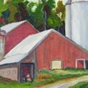 New York State Farm With Silos Poster