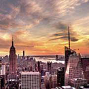 New York Sunset Poster