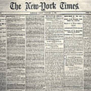 New York Times, 1864 Poster
