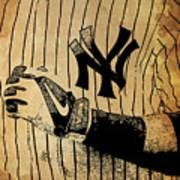 New York Yankees Baseball Team Vintage Card Poster