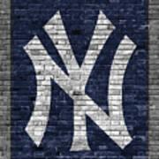 New York Yankees Brick Wall Poster