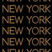 New York No 3  Poster