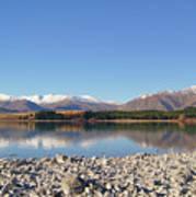 New Zealand Lake Poster