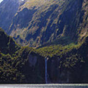 New Zealand Stirling Falls In Hanging Valley Poster