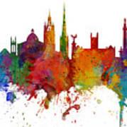 Newcastle England Skyline Custom Panoramic Poster