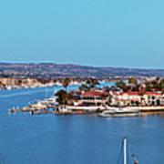 Newport Beach Harbor At Dusk Poster
