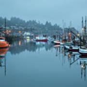 Newport Fishing Boats Poster