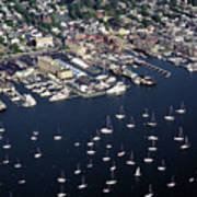 Newport R I Aerial View Poster