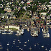 Newport Ri From The Air Poster