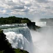 Niagara Falls American And Canadian Horseshoe Falls Poster