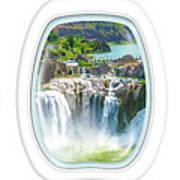 Niagara Falls Porthole Windows Poster