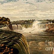 Niagara Falls With Rainbow, 1860 Poster