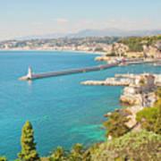 Nice Coastline And Harbour, France Poster by John Harper