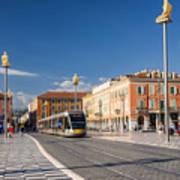 Nice Tramway At Place Massena Poster