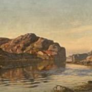 Nielsen, Amaldus Clarin 1838-1932 Morning, Ny-hellesund 1909 Poster