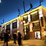Night At Jokhang Temple Lhasa Kora Tibet Artmif.lv Poster
