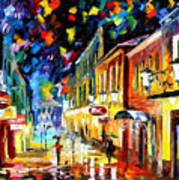 Night Etude - Palette Knife Oil Painting On Canvas By Leonid Afremov Poster