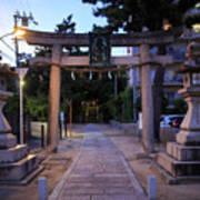 Night Falls On Esaka Shrine Poster