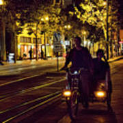 Night Moods Streets Of San Jose   Poster