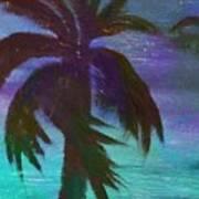 Night Palm Poster