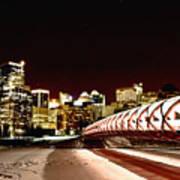 Night Shots Calgary Alberta Canada Poster