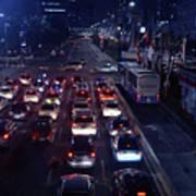 Night Skyline Of Jakarta Indonesia 2 Poster