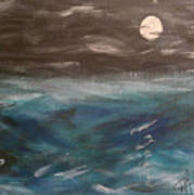 Night Waves Poster by Patti Spires Hamilton