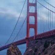 Nightfall Over Golden Gate Poster