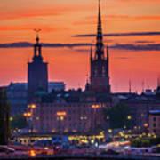 Nightsky Over Stockholm Poster