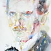 Nikola Tesla - Watercolor Portrait.3 Poster