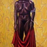 Nina Sea Line Woman Poster
