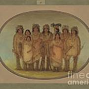 Nine Ojibbeway Indians In London Poster