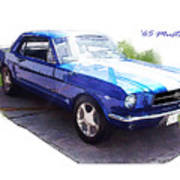 Nineteen Sixty-five Mustang Poster