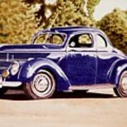 Nineteen Thirty Eight Ford Coupe Poster
