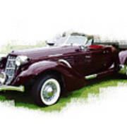 Nineteen Thirty-seven Auburn Speedster Poster