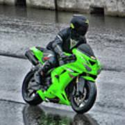 Ninja In The Rain Poster