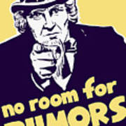 No Room For Rumors - Uncle Sam Poster