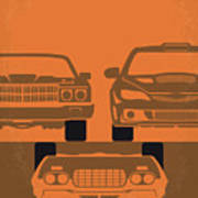 No207-4 My Fast And Furious Minimal Movie Poster Poster