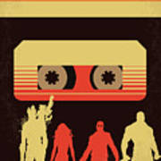No812 My Guardians Of The Galaxy Minimal Movie Poster Poster